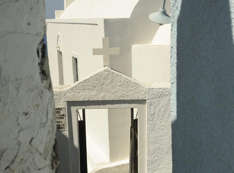 Les nombreuses ruelles de Santorini