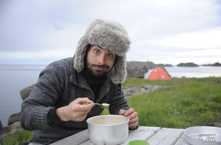 Chico et sa fameuse soupe de poisson à Stamsund, Lofoten