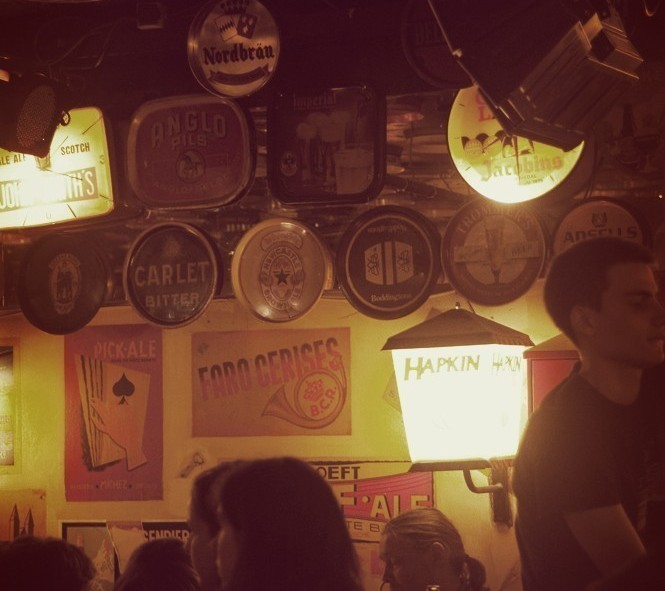 L'intérieur du Délirium Café