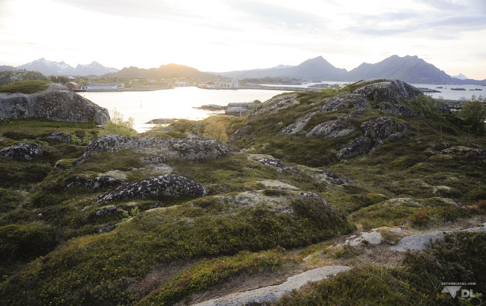 Vue de notre campement à Ballstad, Lofoten