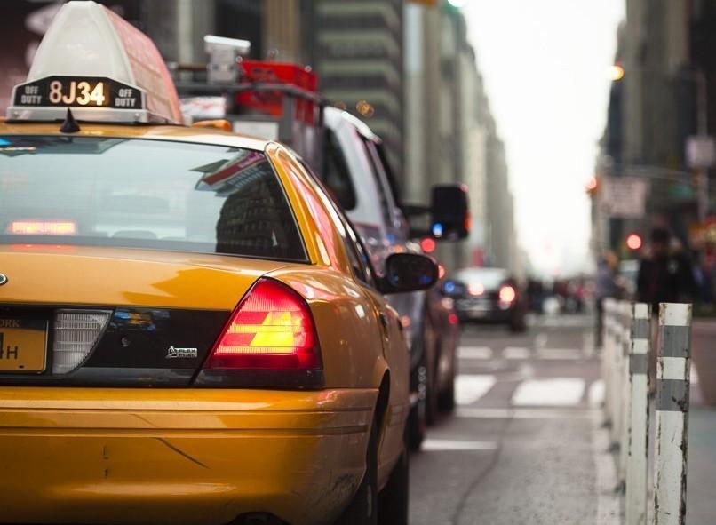 Un des nombreux taxis de New York