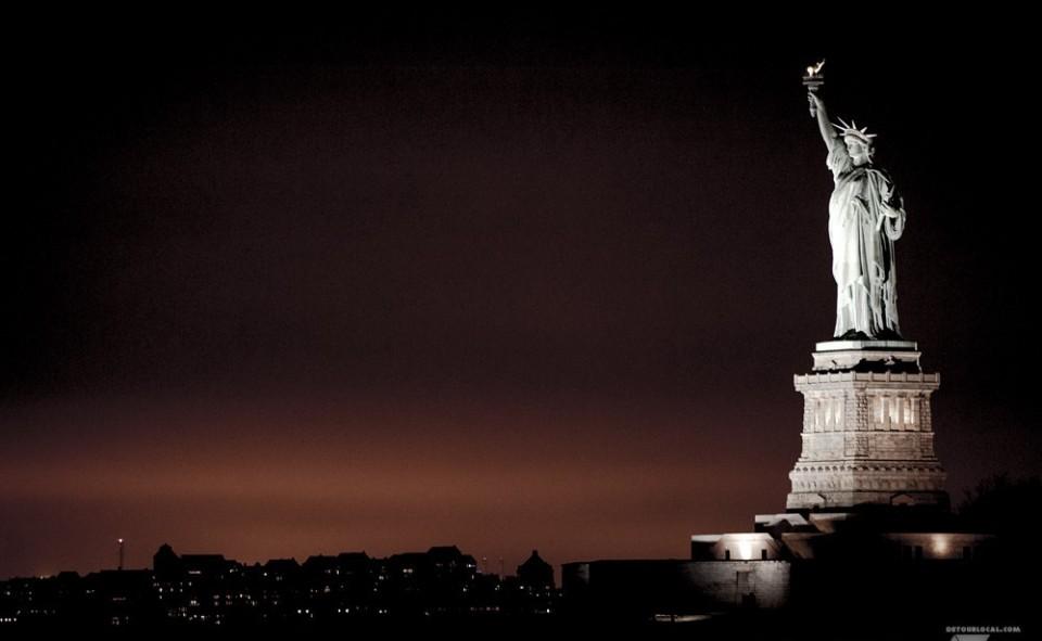 Statue de la Liberté vue à bord du ferry de Staten Island, New York