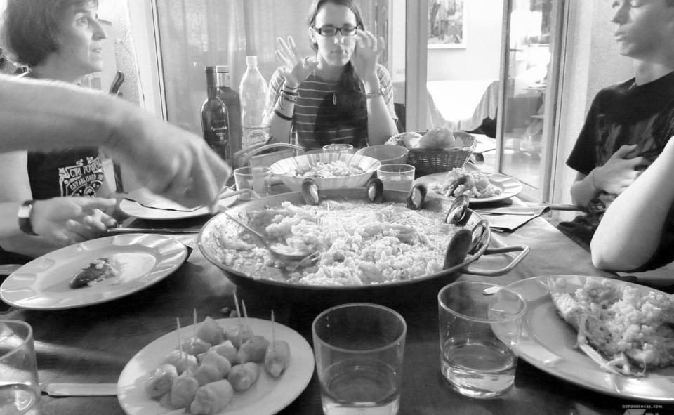 Petit souper chez la famille Valls à Girona