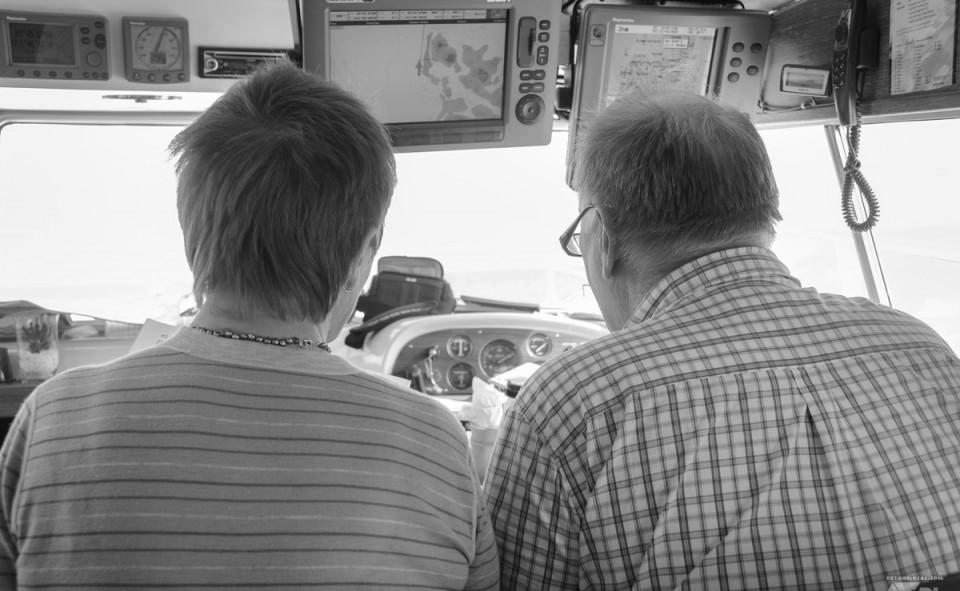 Gunn et Ole Johnny pendant notre excursion en bateau à travers les fjords norvégiens