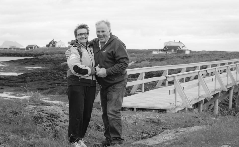 Gunn et Ole Johnny nos hôtes de Træna en Norvège