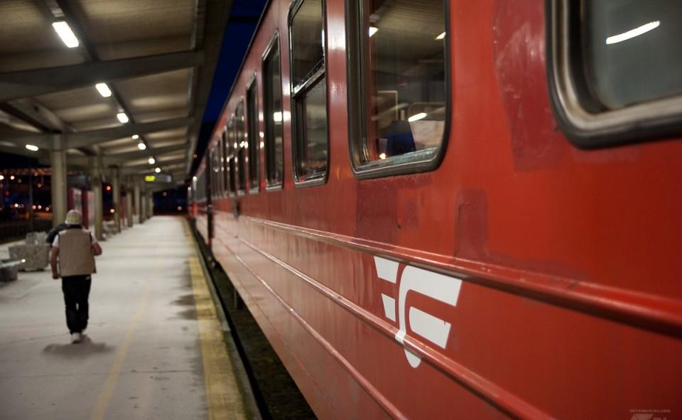 Train de la compagnie NSB en Norvège; très rustique