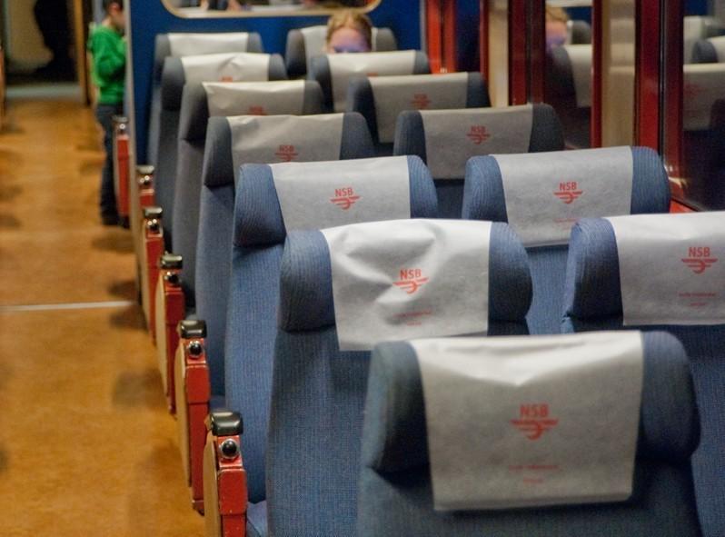 Classe économie du train en Norvège