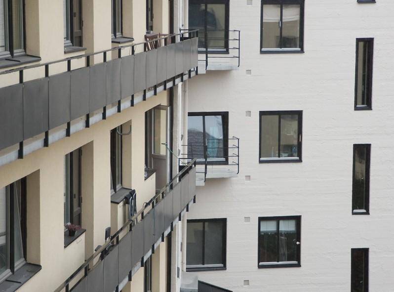 Vue du balcon de notre amie Tiril à Oslo - Norvège