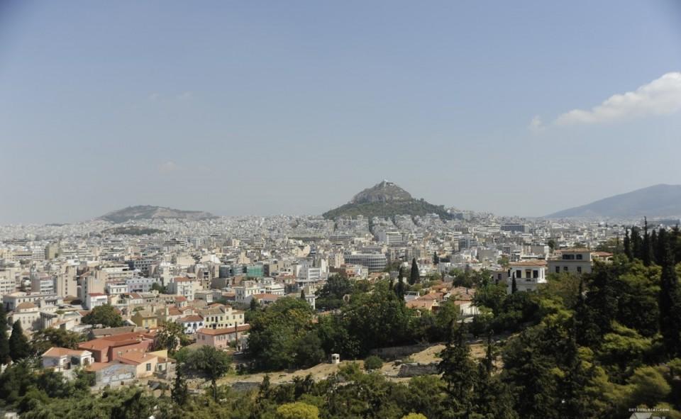 Vue sur la ville d'Athènes