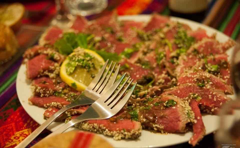 Tataki de boeuf pour un souper entre amis