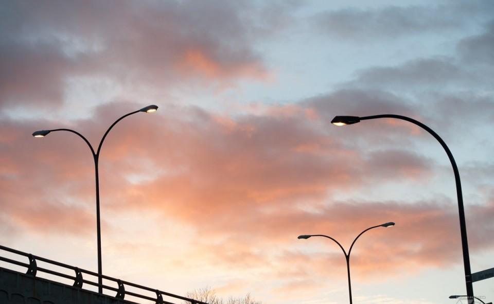 Montréal sunset vintage