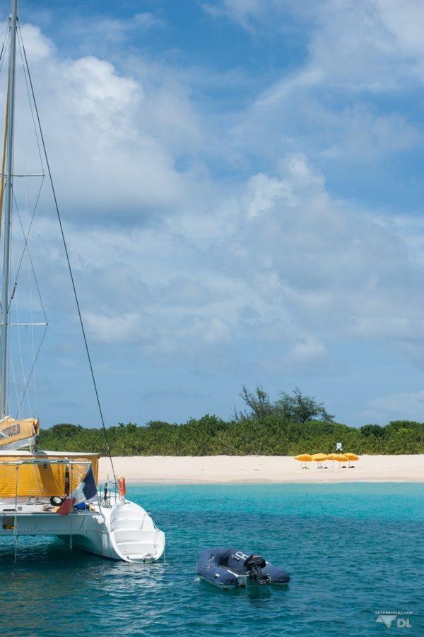 Petit arrêt île déserte et snorkeling