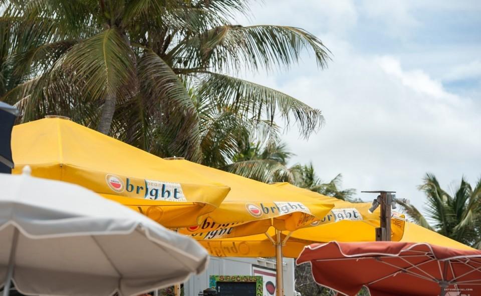 Les parasols pleuvent à St-Martin