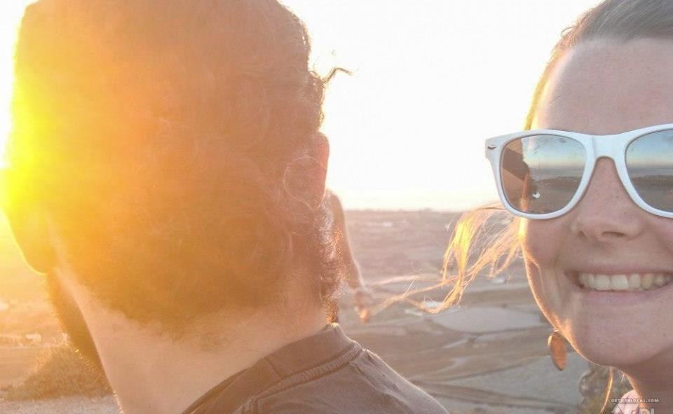Selfie d'Alizé à Santorini en Grèce