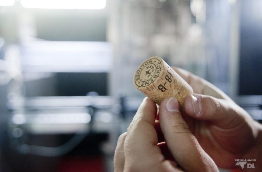 Le bouchon traditionnel que l'on reconnait d'une bouteille de champagne