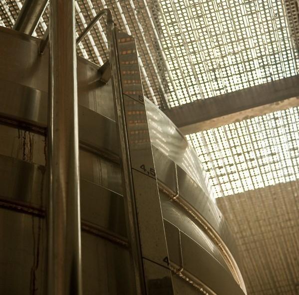 Grande cuve où est récoltée le vin pour la première fermentation