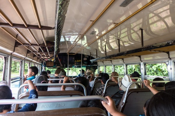 Un bus local traditionnel comme vous en rencontrerez tant en Amérique Centrale
