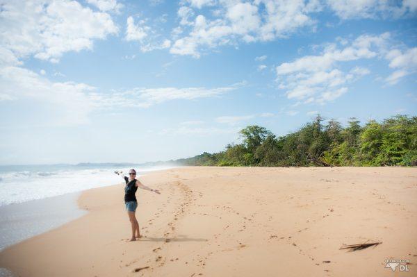 Alizé sur Playa Bluff dans Bocas del Toro, plage déserte à perte de vue