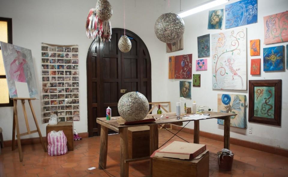 Le coin créatif de la maison où toutes les idées sont possibles, s'ils sont réalisées