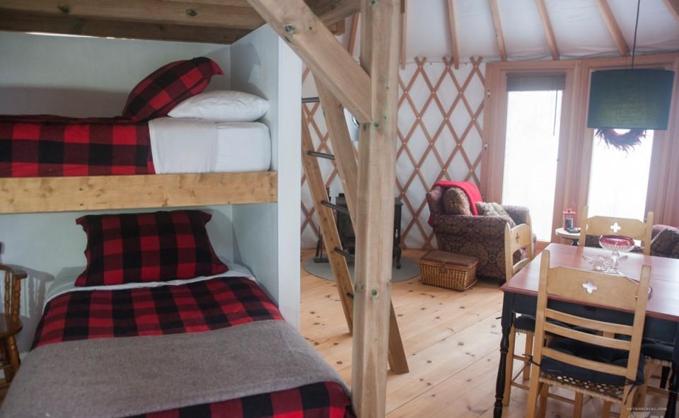 N'avez-vous pas le goût de dormir ici au beau milieu de la nature?
