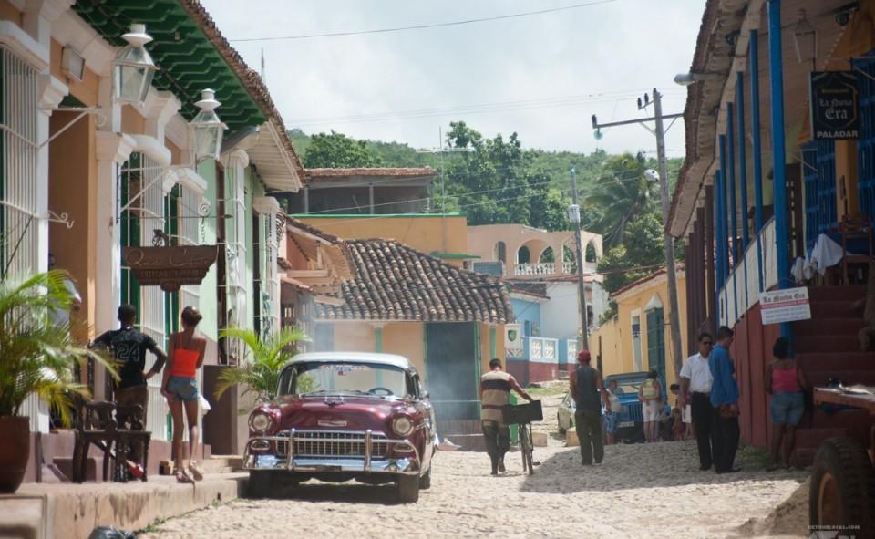 Village cubain typique fait de pavés et d'ambiance locale