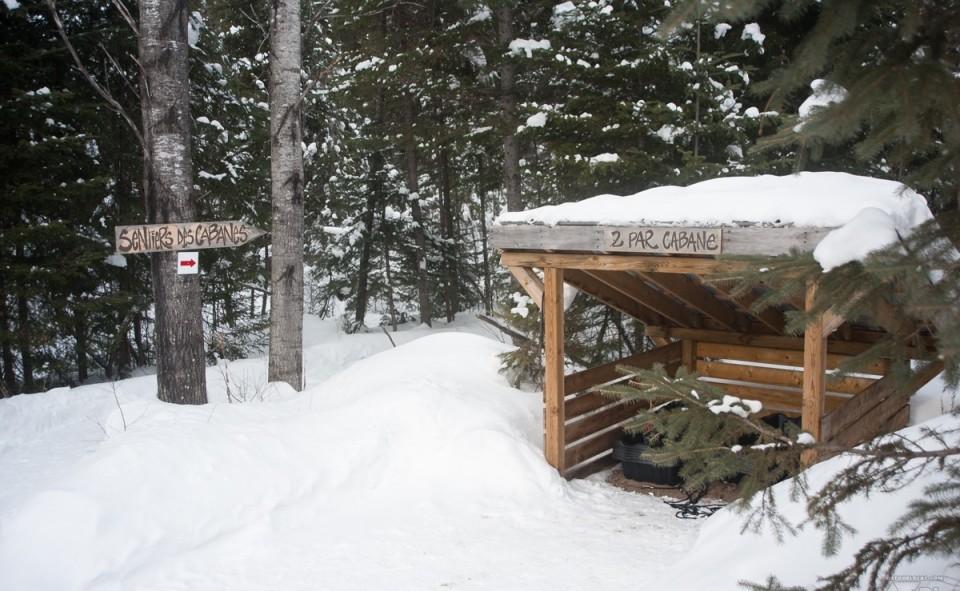 Le shack à traineaux pour vous faciliter votre arrivée à votre cabane