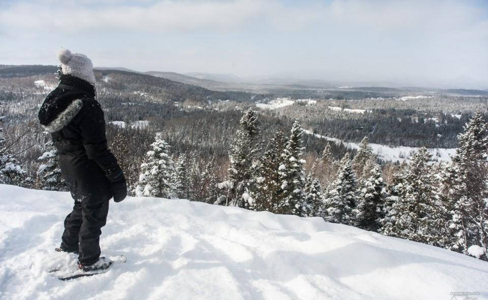 La vue magnifique du belvédère avec le parc Ouareau en arrière plan
