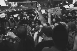 Champs, slogans et ambiances pacifiques à Barcelone
