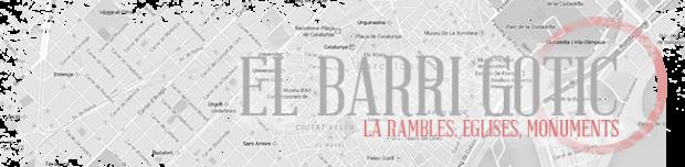 Le quartier gothique est le centre touristique de Barcelone avec Las Rambles