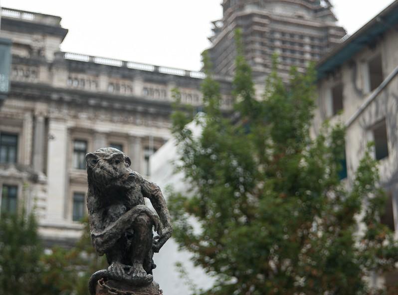Vue sur le palais de justice à Bruxelles