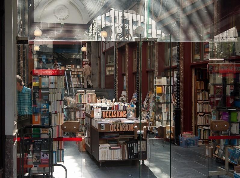 Magasin de livre de seconde main à Bruxelles