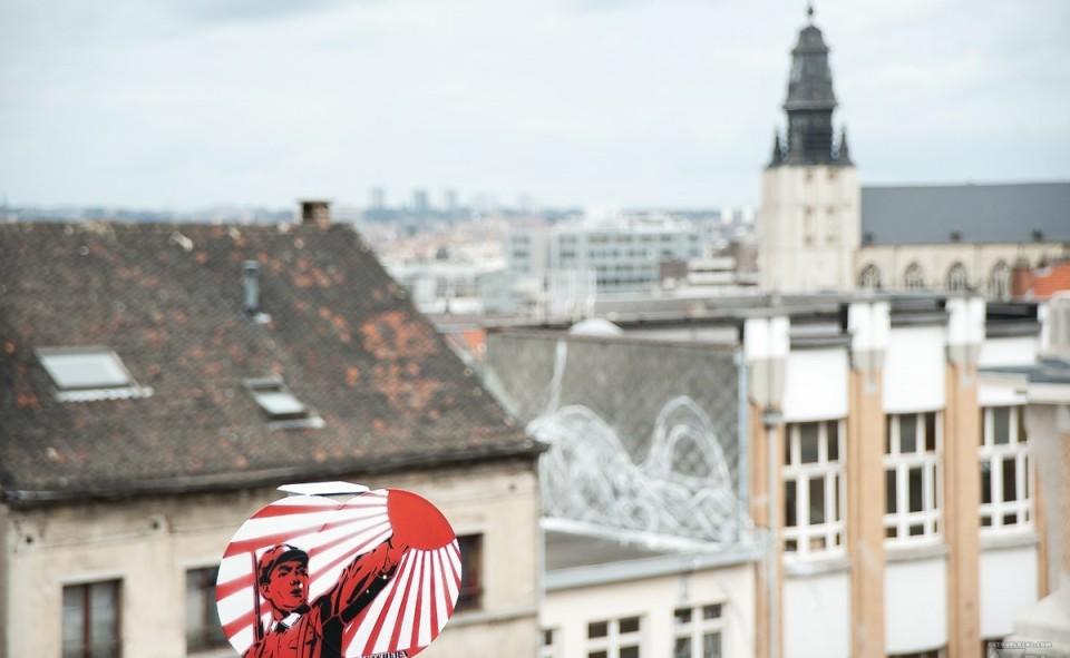 Vue sur les vieux quartiers de Bruxelles