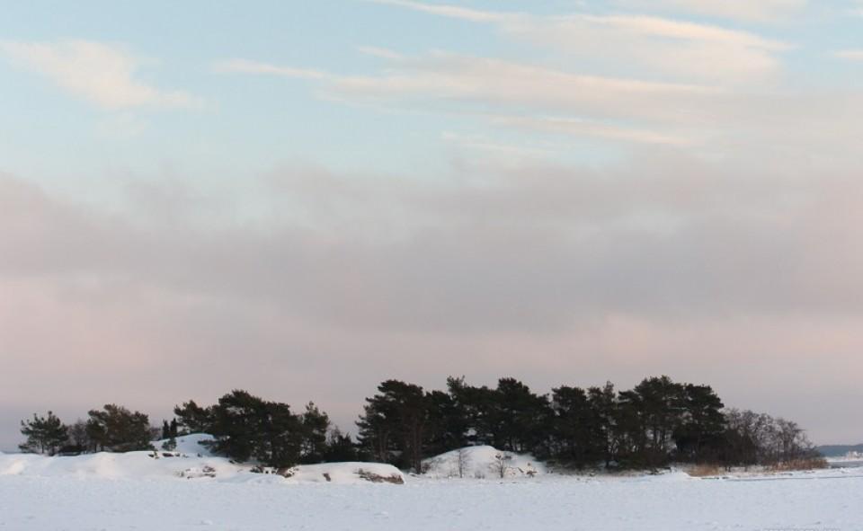 Un paysage d'hiver typique de Finlande