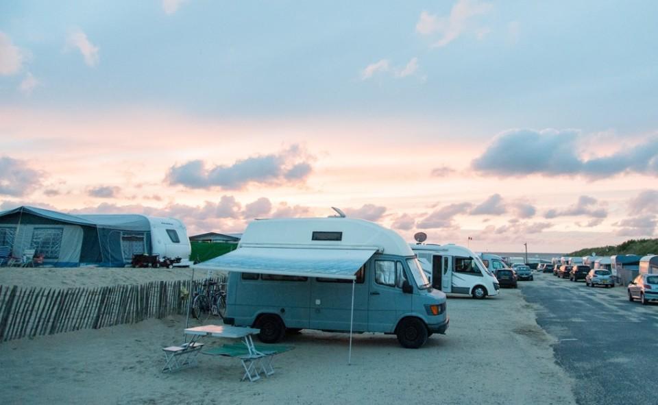 Voyager en camper van à la mer du nord en Belgique