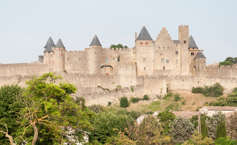 Carcassonne, la cité, la touristique, immanquablement à voir