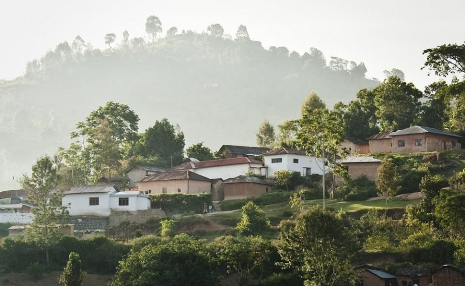 Village de Lushoto perché sur la coline.