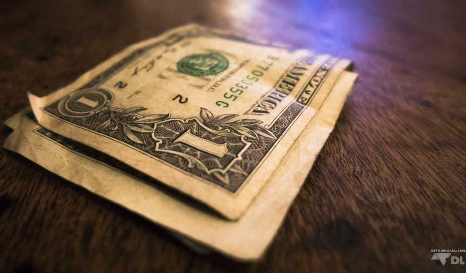 Un dollar américain au bar de Jazz, New York