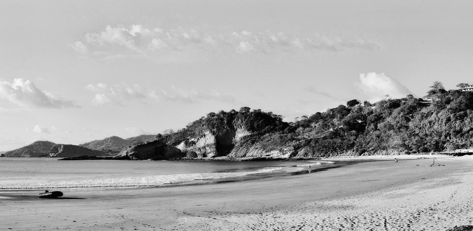 Vue de notre bureau du temps des Fêtes, Playa Marsella, Nicaragua