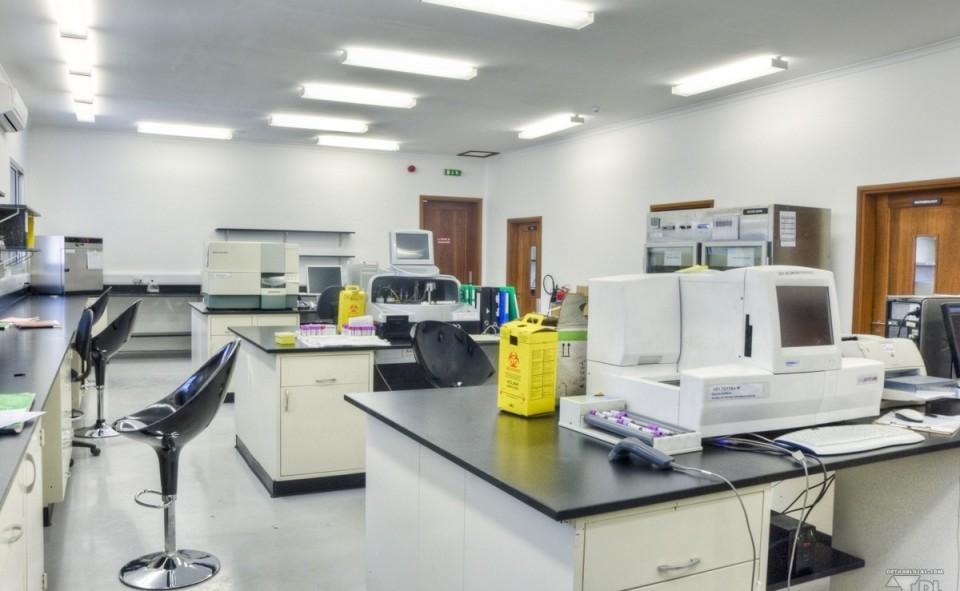 Clinique médicale d'un hopital luxueux de la capitale africaine