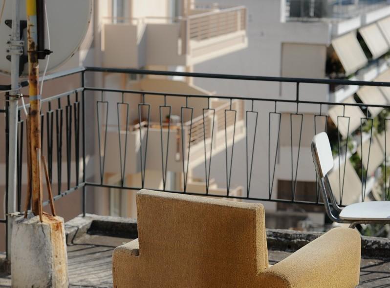Magnifique vue sur le toit de notre CouchSurfer. Vintage à souhait.