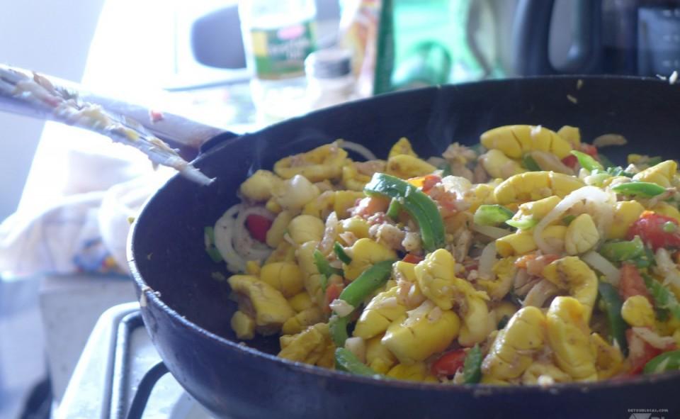 Petit déjeuné spécial Jamaïque, Ackee and salt fish