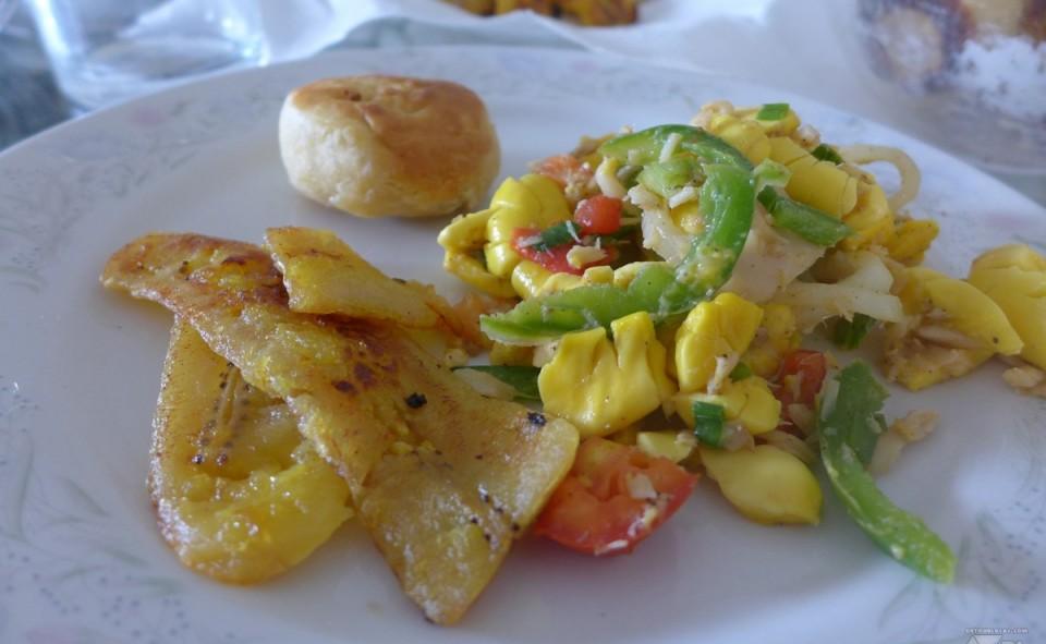 Ackee and salt fish, Jamaïque