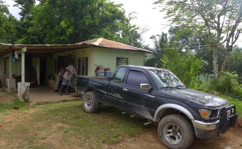 Maison de notre hôte en wwoofing en Jamaique