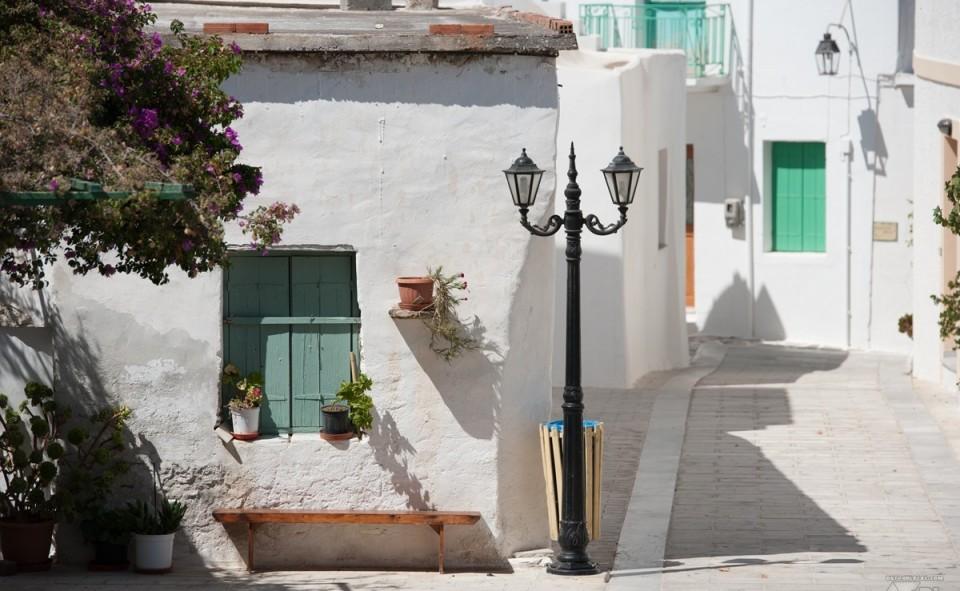Lefkes, petit village grecque