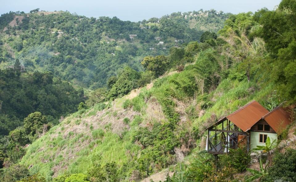 Mount Edge Guest House est littéralement à flan de montagne