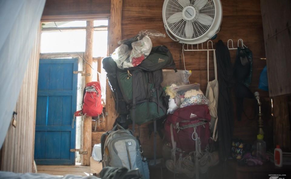 L'entièreté de nos possessions en voyage