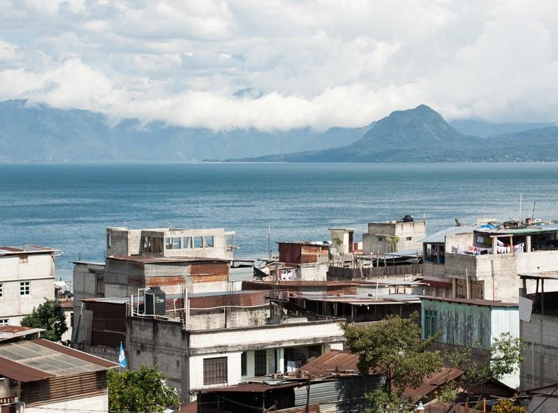 Le fameux lago Atitlan au Guatemala