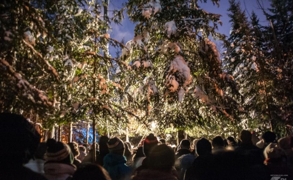 La messe dans le bois à Breakeyville, tous les 24 et 25 décembre de chaque année