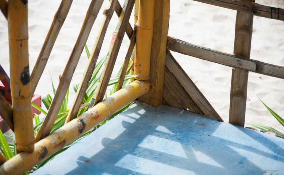 Notre cabane en bambou, idéale pour se mettre dans l'ambiance