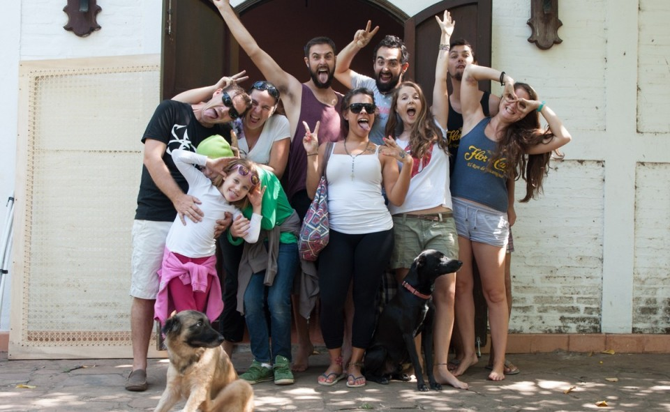 Notre groupe de joyeux volontaires à Colibri Connexion au Nicaragua